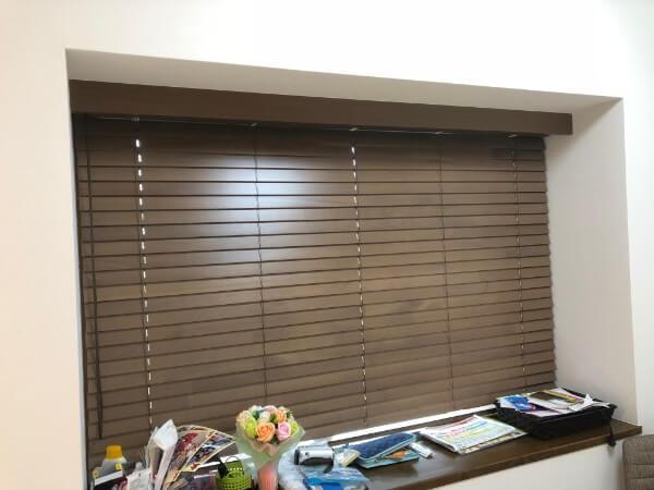 タチカワブラインドの木製ブラインドオーダーメイドカーテン2