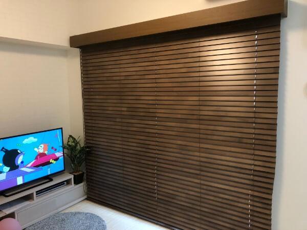 タチカワブラインドの木製ブラインドオーダーメイドカーテン8