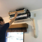 おそうじ本舗によるエアコン掃除クリーニング1