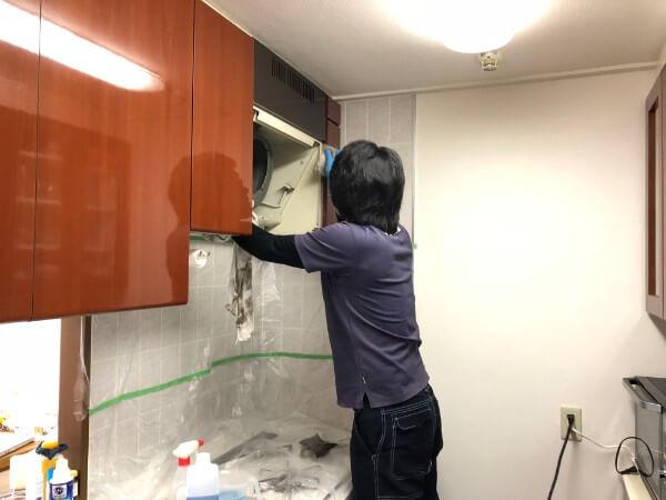 おそうじ本舗による換気扇グリル掃除クリーニング1