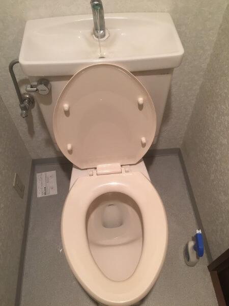 トイレをアクセントクロスにする前2