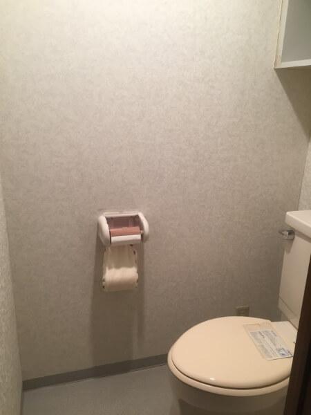 トイレをアクセントクロスにする前1